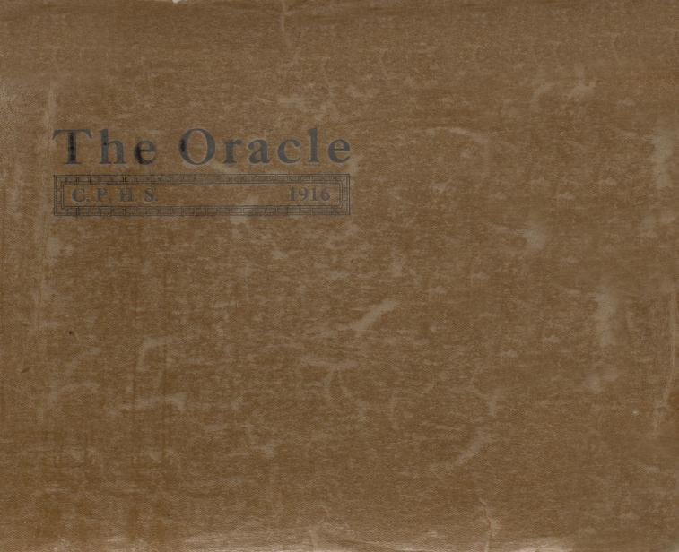 Cover of the 1916 Crown Point High School Yearbook, the Oracle