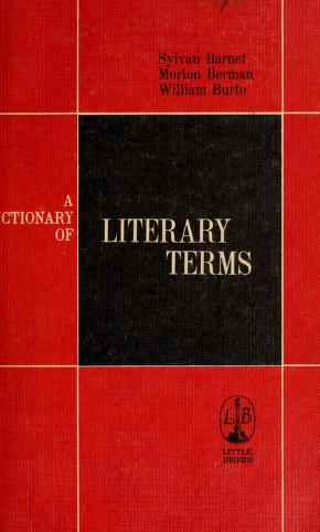 Cover of: A dictionary of literary terms | Sylvan Barnet